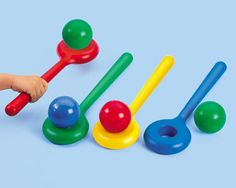 Balancing Balls Game My Lakeshore dream classroom Safe Games, Health And Physical Education, Special Education, Lakeshore Learning, Toddler Classroom, Gross Motor Activities, Color Games, School Supplies, Kids Playing