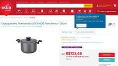 [Extra.com.br] Espagueteira Tramontina 20535620 Paris Preta - 20cm 1956718 - de R$ 123,44 por R$ 123,44