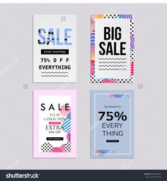 Sale Website Banners Design Set. Social Media Banners, Posters, Email And Newsletter Designs, Ads, Leaflets, Placards, Brochures, Flyers, Web Stickers, Promotional Material Vector Illustration Design - 506846965 : Shutterstock