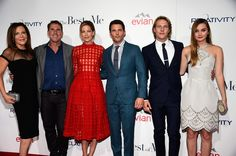 The stars of The Best of Me, Michelle Monaghan, James Marsden, Luke Bracey and Liana Liberato, linked up with producer Denise Di Novi and author Nicholas Sparks at the movie's LA premiere on Tuesday.