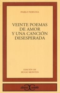 Perhaps the most widely read and best loved book of poetry ever written in Spanish. Its verses can be recited by heart by millions of Latin Americans from every conceivable background and walk of life, and it has acquired the status of a bible for young lovers.  http://www.goodreads.com/book/show/1069346.Veinte_Poemas_De_Amor_Y_Una_Canci_n_Desesperada