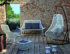 Hanging swing outdoor furniture