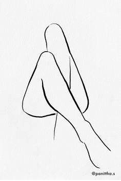 - Minimal line illustration, legs crossed - Pencil Art Drawings, Art Drawings Sketches, Line Drawings, Minimalist Drawing, Minimalist Art, Minimal Drawings, Outline Art, Digital Painting Tutorials, Line Illustration