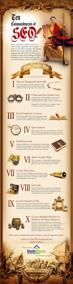 10 Commandments of SEO to thrive through each algorithm update.