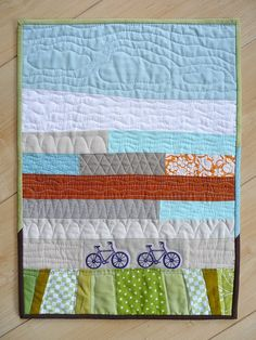 Spotted Stones: Search results for mini bike quilt Longarm Quilting, Free Motion Quilting, Machine Quilting, Small Quilts, Mini Quilts, Strip Quilts, Landscape Quilts, Abstract Landscape, Boy Quilts