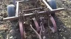 homemade row cultavators for a garden tractor - YouTube