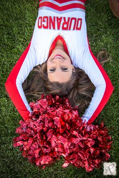Cheer senior picture sports // photo by Allison Ragsdale Photography
