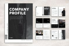 Corporate Company Profile Brochure Template InDesign INDD - 12pp Layout Template, Brochure Template, Company Profile Design Templates, Engineering Companies, Business Planner, Indesign Templates, Booklet, How To Plan, Flyer Template