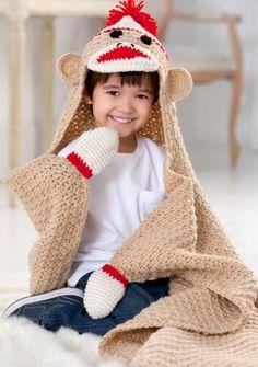 Sock Monkey Blanket Free Crochet Pattern