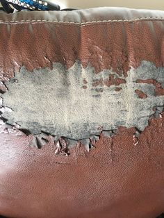 repair leather couch My favorite chair is peeling and Im not ready to get rid of it. Is there anything I can do I am open to anything. Bonded Leather Repair, Diy Leather Repair, Leather Furniture Repair, Faux Leather Couch, Leather Headboard, Leather Recliner, Reupholster Couch, Couch Makeover, Home Decor