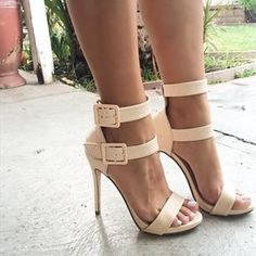 Double strappy pumps