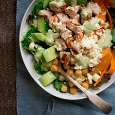 Blog post at Healthy Seasonal Recipes : Here is the Chicken and Chickpea Green Goddess Power Salad recipe I talked about yesterday. It is really special and deserves its own post. [..]