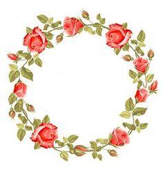 Wreath from rose Flower Frame, My Flower, Rose Vine Tattoos, Fruit Orange, Flor Tattoo, Apple Watch Wallpaper, Rose Garland, Decoupage Vintage, Flower Backgrounds