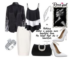 """Evening date!"" by mery-2601 ❤ liked on Polyvore featuring modern"