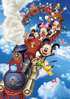 Mickey and friends on a train!