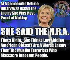 Another Pinner said: This is true AND, as if you needed icing to the cake, her husband & former president, Bill, was the one who started to put regulations on guns & registries! The Clinton's want Americans as sitting ducks! NO TO KILLARY! Liberal Hypocrisy, Liberal Logic, Politicians, Innocent People, Stupid People, Out Of Touch, Conservative Politics, It Goes On, Humor