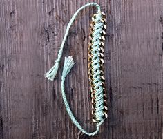 Braided Chain Bracelet ( http://shop.uncovet.com/pyrite-disc-necklace-6850?ref=hardpin_type129#utm_campaign=type129_medium=HardPin_source=Pinterest )