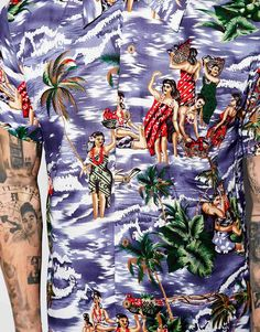 Image 3 - Religion - Chemise hawaïenne à manches courtes avec imprimé vahinés