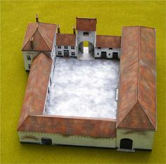 Papelotte Farm at Waterloo - Warlord Games Fantasy Castle, Medieval Fantasy, Fantasy Map, Waterloo Battlefield, Building Design, Building A House, Model Castle, Wargaming Table, Fence Sections