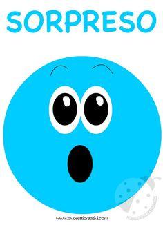 Emotions Preschool, Feelings Activities, Preschool Printables, Preschool Activities, Shocked Face, Emotional Child, Discipline, Feelings And Emotions, Emoticon