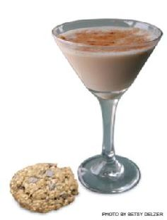 Oatmeal Cookie Cocktail - 1 oz Jagermeister,  1 oz Irish Cream Liqueur,  1 oz Butterscotch Schnapps,  1/2 oz Cinnamon Schnapps, optional garnish with raisins.  Enjoy, but be careful they taste just oatmeal cookies. They'll sneak up on you!