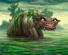 The Bunyip is a large mythical creature from Aboriginal mythology, said to lurk in swamps Mythological Creatures, Fantasy Creatures, Mythical Creatures, Paranormal, Lake Monsters, Rainbow Serpent, City Folk, Legendary Creature, Animal Totems