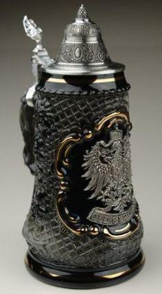 Amazon.com: Old German Petwer Coat of Arms Black Lozenge Authentic German Beer Stein: Kitchen & Dining