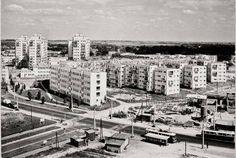 rok 1971, budowa targu przy ul. Wileńskiej  źródło; Dariusz Kosiński Exterior Design, Interior Inspiration, Paris Skyline, Classic Architecture, Explore, History, Travel, Awesome, Ideas