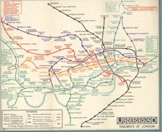Londoners know it, but not all visitors do: sometimes it's quicker to walk than take the tube. The official London Underground map — designed by Harry Beck in 1933 and arguably the most. London Underground Tube Map, London Tube Map, Old London, London Map, Transport Map, London Transport, Transport Posters, Public Transport, Travel Posters
