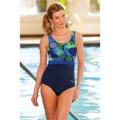 Dolfin Madrid Block Scoop Back Chlorine Resistant Swimsuit Blue