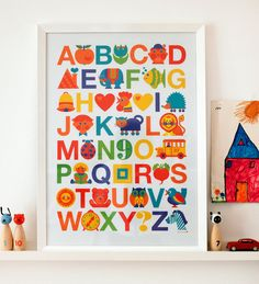 ABC kids poster nursery decoration retro vintage by byGraziela, $24.90