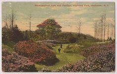 1914 Rochester New York Postcard Highland Park Rhododendron Path Pavilion Postma | eBay