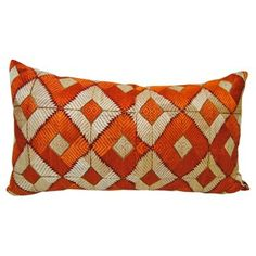 Check out this item at One Kings Lane! Phulkari Bagh Hand Embroidered Pillow