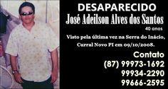 bca: Desaparecido: José Adeilson Alves dos Santos (Dé d...