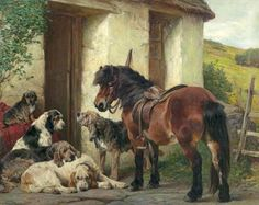 BBC - Your Paintings - Shetland Pony and Dogs