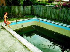 Why would she jump in? We aren't sure and we don't want to see the same thing happen to you. Read our new algae article on how to prevent Winter Algae from blooming where it shouldn't. http://www.doheny.com/how-to-stop-winter-pool-algae-in-its-tracks