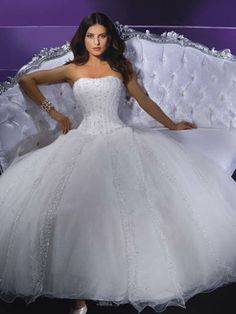 Demetrios princess wedding gown this would be good for a fairytale masquerade wedding