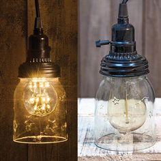 "5"" Mason Jar Lamp with Cord"