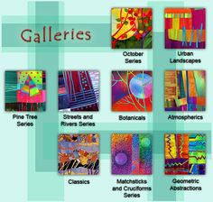 """The Mistress of Bright Colors! Click through if you need a dose!!! ... Proof that a wide variety of color will work together if it is all """"clear"""" tones... Melody Johnson: Art Quilts - Galleries"""