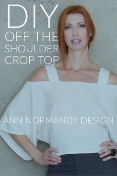Off the Shoulder, Cold Shoulder Crop Top with Side Slits PDF Sewing Pattern by Ann Normandy Design Warm weather wear isn't complete without showing your shoulders off with this off the shoulder, cold shoulder crop top. Inspired by 70s bohemian style. Flattering for all shapes and sizes. #sewingpattern #sewingproject #offtheshoulderpattern #linenshirtpattern #croptoppattern #coldshoulderpattern #sewcialist #diywardrobe #sewingpatterns #sewingprojects #bohochic #minimalist #sideslits #wabisabi