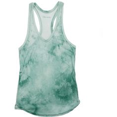 Zadig & Voltaire Top Tank Delta ($145) ❤ liked on Polyvore featuring tops, shirts, tank tops, tanks, almond, green tank top, slit shirt, round top, green tank and green top