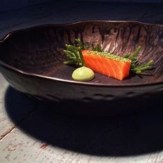 Salmon belly, wasabi aioli, foraged salty fingers, wasabi sesame, a new simple amuse... By @piersdawson via @PhotoAroundApp. Use #chefsplateform to get featured!#foodstyle#food#foodie#foodpic#hungry#instafood#eat#eating#gourmet#foods#yum#yummy#chefslife#chefstalk#foodgasm#foodstagram#foodporn#chef#culinary#truecooks#gastronogram#instachef#wildchefs#repost#fresh#foodphotography#tasty#delicious