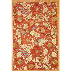 @Overstock - This beautiful rug is carefully hand-knotted by artisans in India. Featuring rust orange and beige hues in a floral pattern, this rug can tie any room together.  http://www.overstock.com/Worldstock-Fair-Trade/Hand-tufted-Indo-Rust-Beige-Wool-Rug-66-x-10/5473514/product.html?CID=214117 $343.99