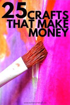 25 Easy Crafts That Make Real Money Make Money Today, Make Real Money, Hobbies That Make Money, Things To Sell, Money Making Crafts, Easy Crafts To Sell, Diy Crafts, Yarn Wrapped Bottles, Blog Planning