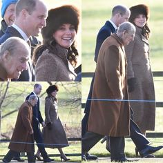 "262 Likes, 2 Comments - HRH The Duchess of Cambridge (@katemiddletonnn) on Instagram: ""William and Kate are joined by Prince Philip for Epiphany church service in St. Mary Magdalene…"""