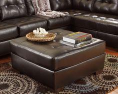 Ashley Alliston DuraBlend 2010108 Signature Design Chocolate Oversized Accent Ottoman -