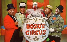 Image Search Results for wgn bozo circus took Mom 6 years to get tickets. I was 12 by the I got to go see Bozo circus Photo Vintage, Vintage Tv, Vintage Circus, Vintage Movies, Old Tv Shows, Kids Shows, History Of Clowns, Bozo The Clown, Creepy Clown