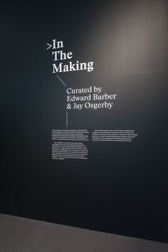 Design Museum/Barber Osgerby – In The Making — Build