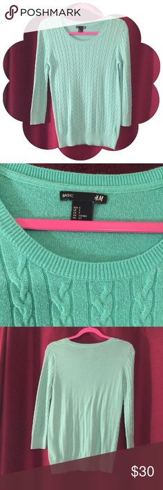 ON HOLD H & M Cable Knit Sweater Mint Like New H&M Sweaters Crew & Scoop Necks