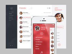 Web App + iOS7 App by Angel Bartolli